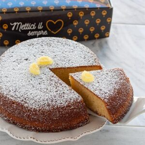 torta caprese al limone cuori di sfogliatella